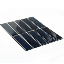 10pcs Epoxy Solar Panel 100*28mm 5.5V 60mA DIY Photovoltaic Panel Cell Car Charger Lamp Light  Sun Power Solar Manels Modle