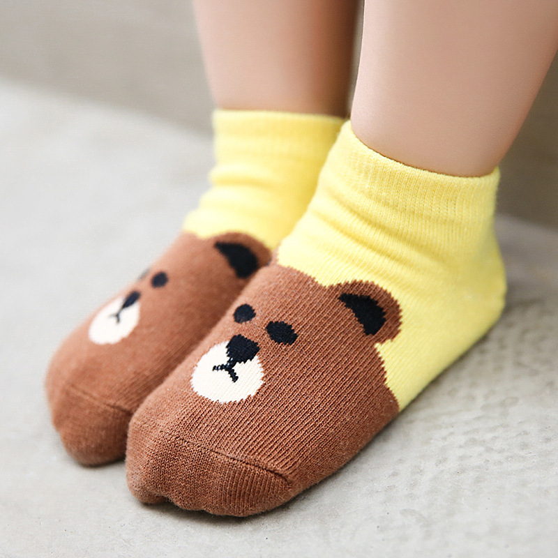 children socks cotton socks wholesale Android products in summer and autumn cartoon animal head cotton socks(China)