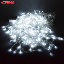 AIFENG Holiday Lights 3M 5M Icicle Light String 96Led 216Led Holiday light For Christmas Wedding Party Curtain Garland 110V 220V(China)