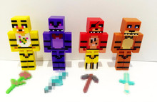 Hot!!! New 4pcs/set Minecraft Five Nights At Freddy's 4 FNAF Foxy Chica Bonnie Freddy Action Figures Kid Toy Christmas Gifts(China)