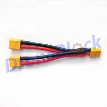 XT60 Parallel Battery Connector Cable 12AWG Dual Extension Y Splitter Silicone Wire Battery XT60 Harness for 2 Packs in Paralle
