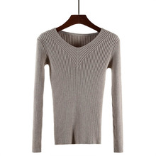 autumn new women knitted pullover sweaters female long sleeve geometry sweater femme tricot pull sweater jackets(China)