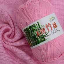 Hot New 20 colors Soft Bamboo Crochet 50g Knitted Yarn DIY Hand Knitting Yarn Baby Dyed Blended yarn For Sweaters Shoes Scarf F2(China)