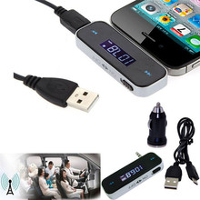 Hot Wireless Music to Car Radio FM Transmitter For 3.5mm MP3 iPod Phones Tablets