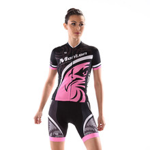 Customize Short Women's Cycling Jerseys Beautiful mtb Bike Bicycle Cycling Clothings Kits Breathable Pink Sports Wear