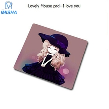 Imisha High quanlity 20X20CM Small Mini Cartoon Mouse Pad cute Skid Resistance  Support Mousepad PC Mat  for children or girls