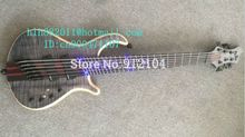 free shipping new 6 strings fanned fret electric bass guitar in natural color with rosewood fingerboard made in China JT-1