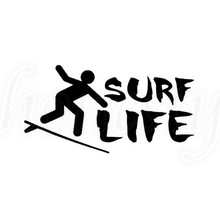 Surf Life Van Bumper Laptop Sticker PC Window Glass Decor Gift Car Vinyl Decal  Motorcycle Home Auto Gift BlackNew