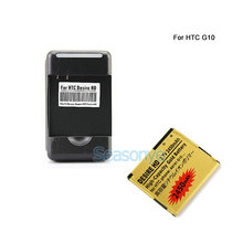 Seasonye 2450mAh BD26100 Gold Replacement Battery + Charger For HTC G10 Desire HD Surround T8788 T9188 T9199 A9191 Inspire 4G
