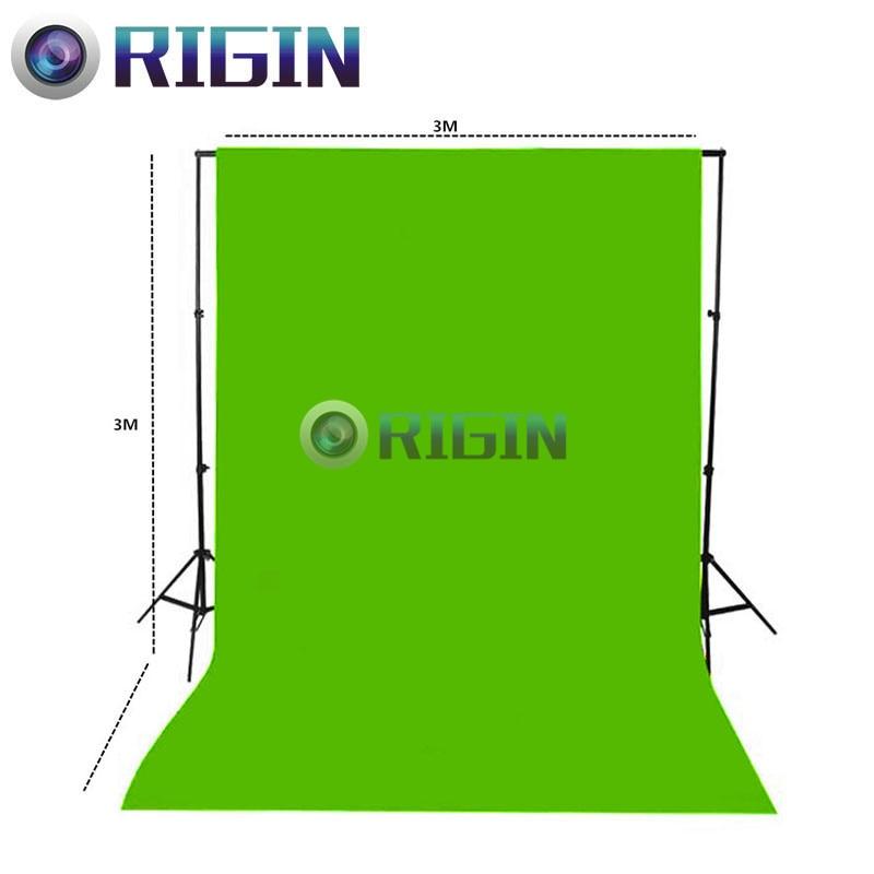 Green Color 3m*3m Portrait background non-woven cloth photo background cloth photography background cloth<br>