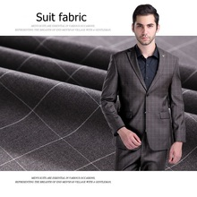 Men 's Suits Fabric Casual Jacket Business Suit Cloth Manufacturers Wholesale Yarn Dyed Lattice Fabrics-325GSM