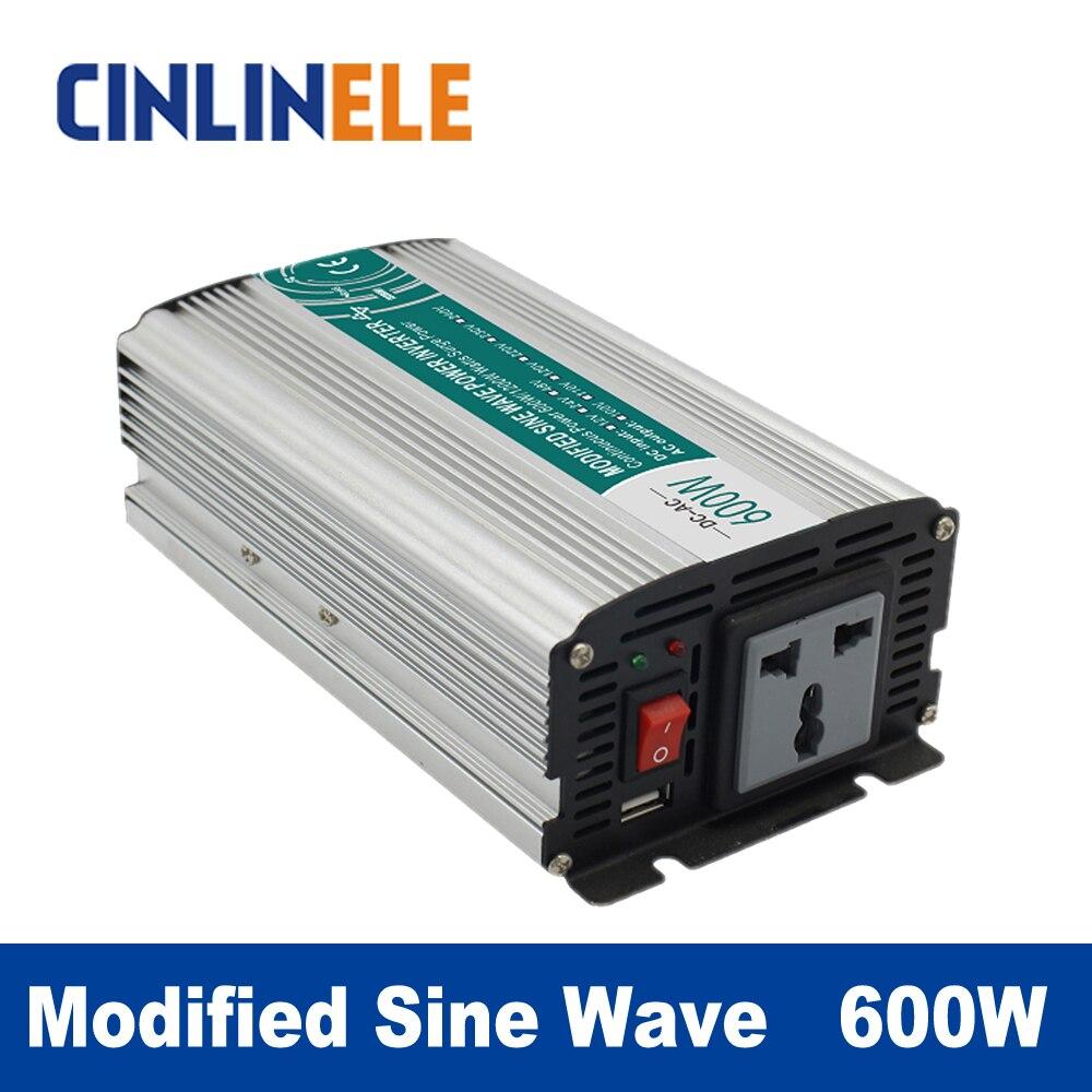 Modified Sine Wave Inverter 600W CLM600A DC 12V 24V 48V to AC 110V 220V 600W Surge Power 1200W<br>