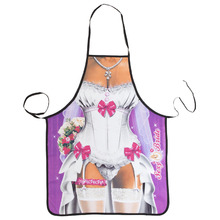 New Novelty Cooking Kitchen Cute Bride Print Sexy Apron Baking Present Pinafore Chef Funny cute kitchen aprons