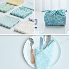 A combination of 7 colors Cotton Table cloth napkins tea towels for Home Wedding placemats serviette de table mariage