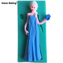 New Arrival Famous Cartoon Girl Figure Fondant Cake Molds Tools Soap Mold For Decorating Cooking Tools C429(China)