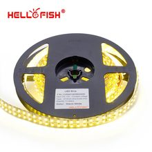 Hello Fish 15mm Width 5m Double Row 2835/3528 1200 SMD LED Strip, 12V Flexible 240 LED/m LED tape , White/Warm White