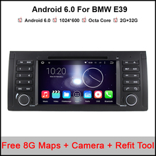 "7"" HD Digital Octa Core 64bit 32GB+2G RAM Android 6.0 Multi Touch Screen Car DVD Player GPS for BMW 5 Series / X5 E39 E53"