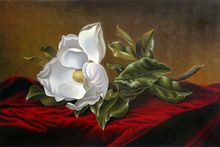 Famous Flower Painting for Kitchen Magnolia Grandiflora, 1895 by Martin Johnson Heade Canvas Art High Quality