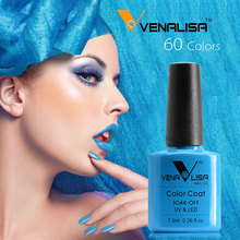 China 2017 New Products Venalisa  7.5ml  Gel Lacquer Long Lasting Gel Nail Polish with 60 colors