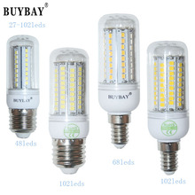 Energy Saving 220V E27 LED bulb SMD2835 27/48/68/102/126 LEDs 2835 G9 LED lampada Chandelier Ceiling E14 GU10 B22 Base