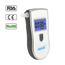 Greenwon Professional White Digital Breath Alcohol Tester Alcohol Breathalyzer Tester with 5 Mouthpiece and Blue Backlight(China)