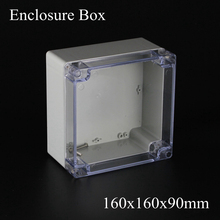 160*160*90m European Style IP66 ABS Clear Plastic Enclosure Box with transparent Clear cover 160x160x90MM(China)
