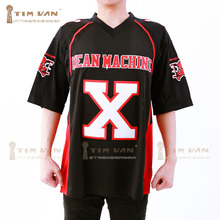 TIM VAN STEENBERGE The Longest Yard Bill Goldberg Joey Battle Battaglio X Mean Machine American Football Jersey Stitched-Black