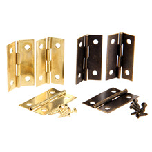 4Pcs Antique Bronze/Gold Cabinet Hinges Furniture Accessories Wood Boxes Decorative Hinge Furniture Fittings For Cabinet 34x22mm