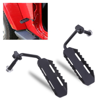 Newest 1 pair Black Exterior Door Hinge Foot Peg Rest Pedal for 07-17 Jeep Wrangler Exterior Mouldings High Quality