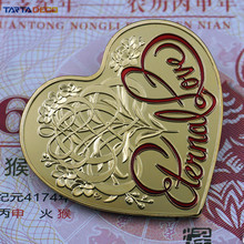 Heart of Ocean Commemorative Coins Golden Silver With Round Box Souvenir Coins Lover Valentine's Day Gift Free Shipping(China)