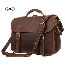 J.M.D New Arrivals Fashion Men's Handbag Dark Brown Big Size Travel Bag Multifunction Shoulder Bag Laptop Bag 7370R