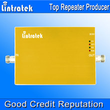 Lintratek 2G 3G Verizon Cell Phone Signal Repeater 850MHz 1900MHz UMTS Cell Phone Signal Booster Gold Color Signal Amplifier S21