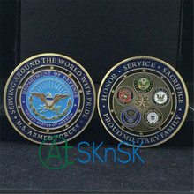 Free shipping 10pcs/lot Proud Military Family U.S. Armed Forces Challenge Coin(China)