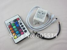 [Seven Neon]Free DHL shipping 24keys IR remote controller for 3528/5050 led smd RGB strip,led strip controller(China)