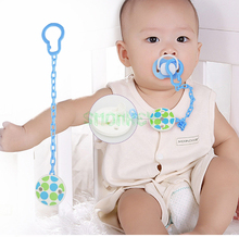 new 25cm Plastic BPA free Baby Pacifier Clip Chain Safety Infant Soother Drop-resistant Nipple clamps soother Clip chain Holder