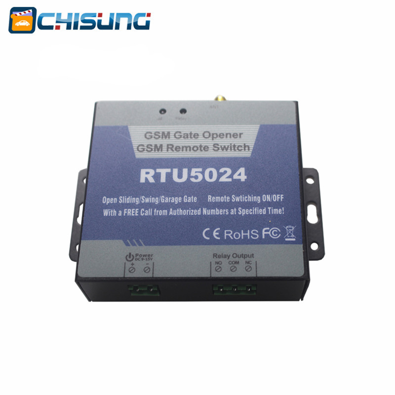 GSM Switch gate Remote Access Control Wireless Door Opener By Free Call RTU5024 for sliding opener<br>