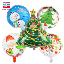 5pcs/lot cartoon Christmas tree foil balloons merry Christmas helium balloon Christmas decoration balls inflatable classic toys