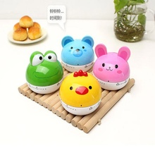 1 pc Lovely Animal Timer Cartoon Creative Kitchen Mechanical Alarm Clock Set Time Reminders Countdown Cooking Tools Supplies(China)
