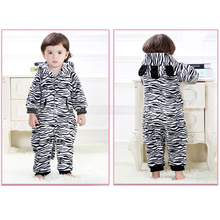 Autumn Winter Baby One-piece Long Sleeve Trouser Hooded Cartoon Romper Fashion Leopard Grain Infant Girls Boys Costume(China)