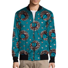 Brightly colored african handsome men baseball jacket africa print stand collar dashiki coat african clothes customized