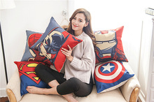 Super Hero Print Cotton Linen Sofa Cushion Embrace Pillow 45x45cm/17.7x17.7'' Home pillow Decoration Seat Cushion Home Textile