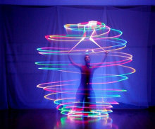 50PCS LED Belly Dance Props Led Poi Thrown Balls Accessories Special Props Light Shine Night Club Performances Stage