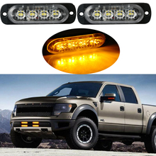 castaleca 2X DC12V 12W Car Truck Side strobe marker lights Warning Daytime running light Foglight amber red white blue Two color