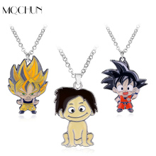 Hot Anime Necklaces Dragon Ball Keychain Metal Son Goku Super Saiyan Enmal Figure Necklace & Pendant Fashion Choker Necklace(China)