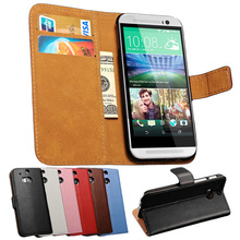 Genuine Leather Case For HTC One M8 Luxury Flip Phone Back Cover Coque For HTC M8 Cases Stand Design Card Slot