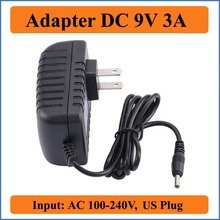 9V 3A US Plug AC DC Adapter 1PCS AC 100V-240V Converter Adapter DC to 9V 3A 3000mA Power Supply charger 5.5mm x 2.1-2.5mm