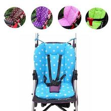 Colorful Thick Baby Infant Stroller Seat Pushchair Cushion Cotton Mat 4Colors(China)
