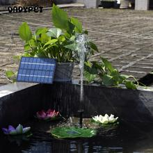 Solar-Powered Water Pump Kit 8V 1.8W Solar Panel Water Floating Solar Powered Fountain for Bird Bath Pond Garden