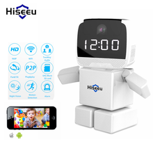 960P HD Wireless robot IP Camera Wifi Night Vision Clock Cam High Quality IP Network Camera CCTV WI-FI CAM360 APP 1.3MP ONVIF(China)