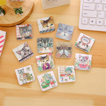 3pcs/lot Cute Kawaii Magnetic Paper Bookmark Lovely Cat Book Marks For Book Office School Supplies Free Shipping 2412